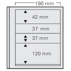 PAGES SPECIAL DUAL 4 BANDES ( ( 1 x 42 mm) (2 x 37 mm) (1 x 120 mm) )