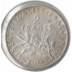 2 FRANCS ROTY 1915 SUP-