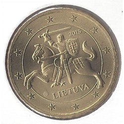 LITHUANIE 50 CENTIMES 2015