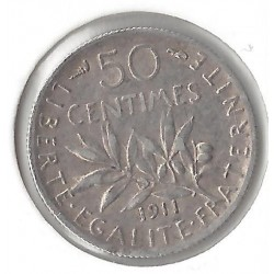 50 CENTIMES ROTY 1911 TTB PEU