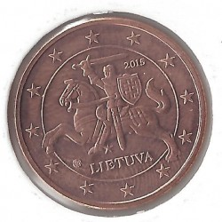 LITHUANIE 5 CENTIMES 2015 SUP