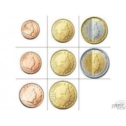 Luxembourg SERIE 8 MONNAIES Annees mixte