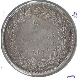 5 FRANCS LOUIS PHILIPPE 1830 A T.RELIEF B+