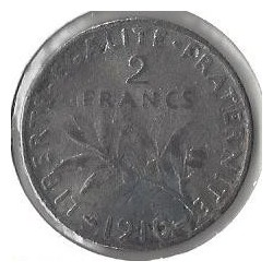 2 FRANCS ROTY 1910 TB Fausse
