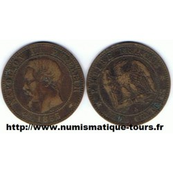 FRANCE 2 CENTIMES NAPOLEON III 1855 A Ancre TB+