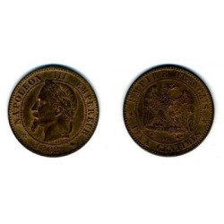 FRANCE 2 CENTIMES NAPOLEON III 1862 A  SUP