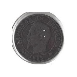 2 CENTIMES NAP III 1855 D ancre Grand D TB+