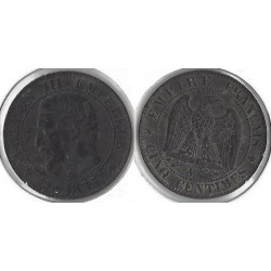 FRANCE 5 CENTIMES NAPOLEON III 1855 A ancre TB+