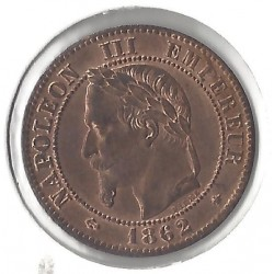 2 CENTIMES NAP III 1862 A SUP