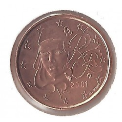 FRANCE 2001 1 CENTIME SUP