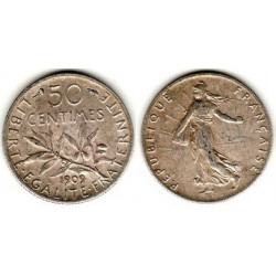 FRANCE 50 CENTIMES ROTY 1909 TTB+