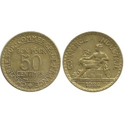 FRANCE 50 CENTIMES DOMARD 1926 SUP