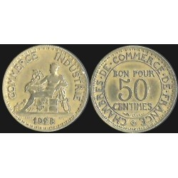 FRANCE 50 CENTIMES DOMARD 1928 SUP-