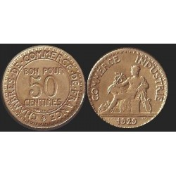 FRANCE 50 CENTIMES DOMARD 1929 TB