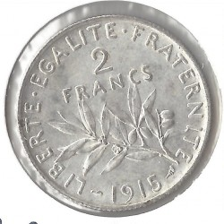 2 FRANCS ROTY 1915 SUP