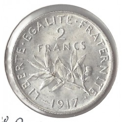 2 FRANCS ROTY 1917 SUP