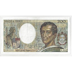 FRANCE 200 FRANCS MONTESQUIEU 1981 R.003 TTB