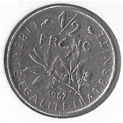 FRANCE 50 CENTIMES ROTY 1967 TB