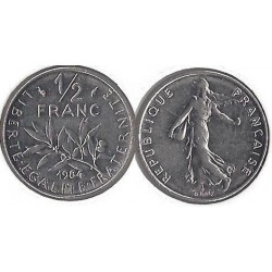 FRANCE 50 CENTIMES ROTY 1984 TTB+