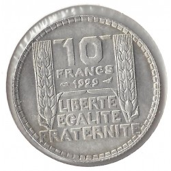 10 FRANCS TURIN 1929 SUP-