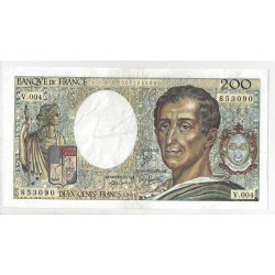 FRANCE 200 FRANCS MONTESQUIEU 1981 V.004 TTB