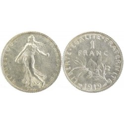 FRANCE 1 FRANC ROTY 1919 SUP/NC