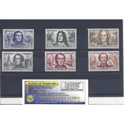 YVERT 1207 a 1212 CELEBRITES 1959 Serie 6 Timbres NEUF