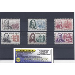 YVERT 1295 a 1300 CELEBRITES 1961 Serie 6 Timbres NEUF