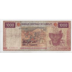 DJIBOUTI  1000 FRANCS ND 2005  TB+