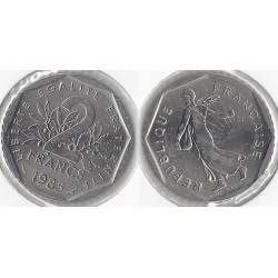 FRANCE 2 FRANCS ROTY 1985 SUP/NC