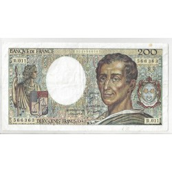 FRANCE 200 FRANCS MONTESQUIEU 1982 R 011 Etat TTB