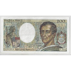FRANCE 200 FRANCS MONTESQUIEU 1983 Y 015 TTB