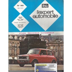 EXPERT AUTOMOBILE AUSTIN MINI 850 1000 1275 GT N°99 MAI 1974