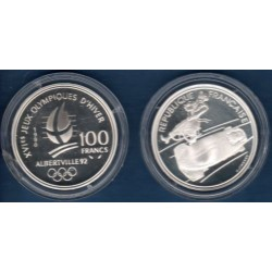 FRANCE 100 FRANCS 1990 BOBSLEIGH B.E ALBERTVILLE 1992