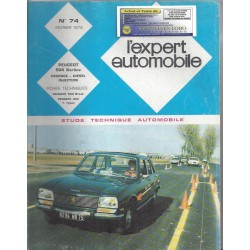 EXPERT AUTOMOBILE PEUGEOT 504 BERLINE ESSENCE DIESEL INJECTION N°74 FEVRIER 1972