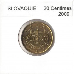 SLOVAQUIE 2009 20 CENTIMES SUP
