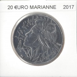 France 2017 20  EURO MARIANNE  ARGENT SUP