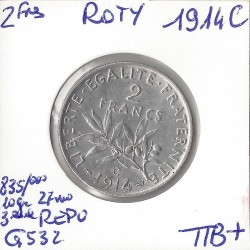 2 FRANCS ROTY 1914 C  SUP