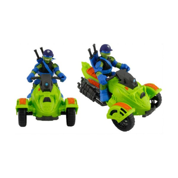 figurine tortues ninja mutation leonardo et sa moto at3 neuf
