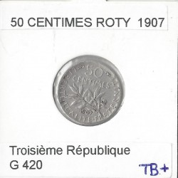 50 CENTIMES ROTY 1907 TB+
