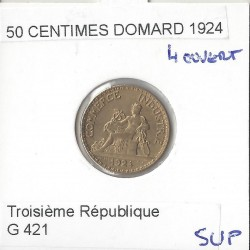50 CENTIMES DOMARD 1924 4 OUVERT SUP
