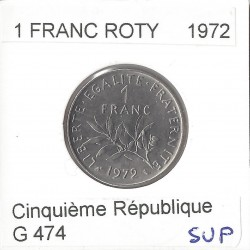 1 FRANC ROTY 1972 SUP