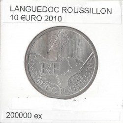 France 2010 10 EURO REGION LANGUEDOC ROUSSILLON