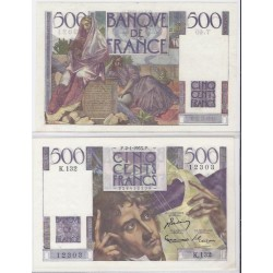 FRANCE 500 FRANCS CHATEAUBRIAND 02/01/1953 SPL  K.132