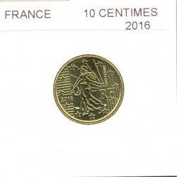 FRANCE 2016 10 CENTIMES SUP