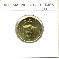 Allemagne 2003 F 20 CENTIMES SUP
