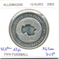 Allemagne 2003 10 EURO FIFA FUSSBALL SUP