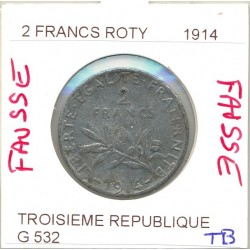 FRANCE  2 FRANCS ROTY 1914 FAUSSE TB