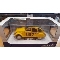 CITROEN 2 CV 007 JAMES BOND JAUNE 1981 SOLIDO 1/18 1:18 Ref: 1850012