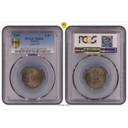 1 FRANC ROTY 1901 PCGS MS 64 (FDC)